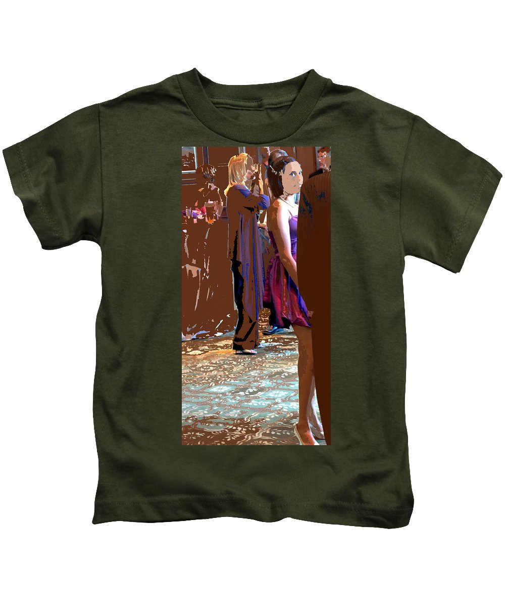 Kids T-Shirt featuring the photograph Party Girl by Ian MacDonald