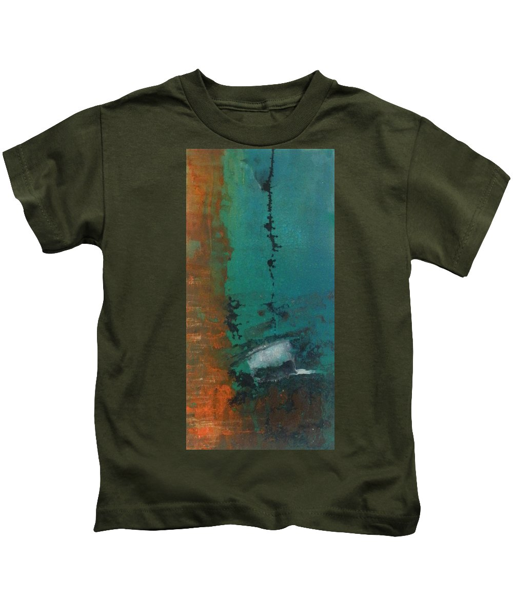 Canvas Kids T-Shirt featuring the painting Pass The Hat by Leah Hicks