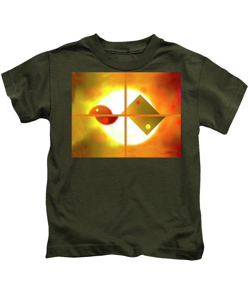 Abstract. Digitally Created Kids T-Shirt featuring the digital art Passion And Power by Roger Bester