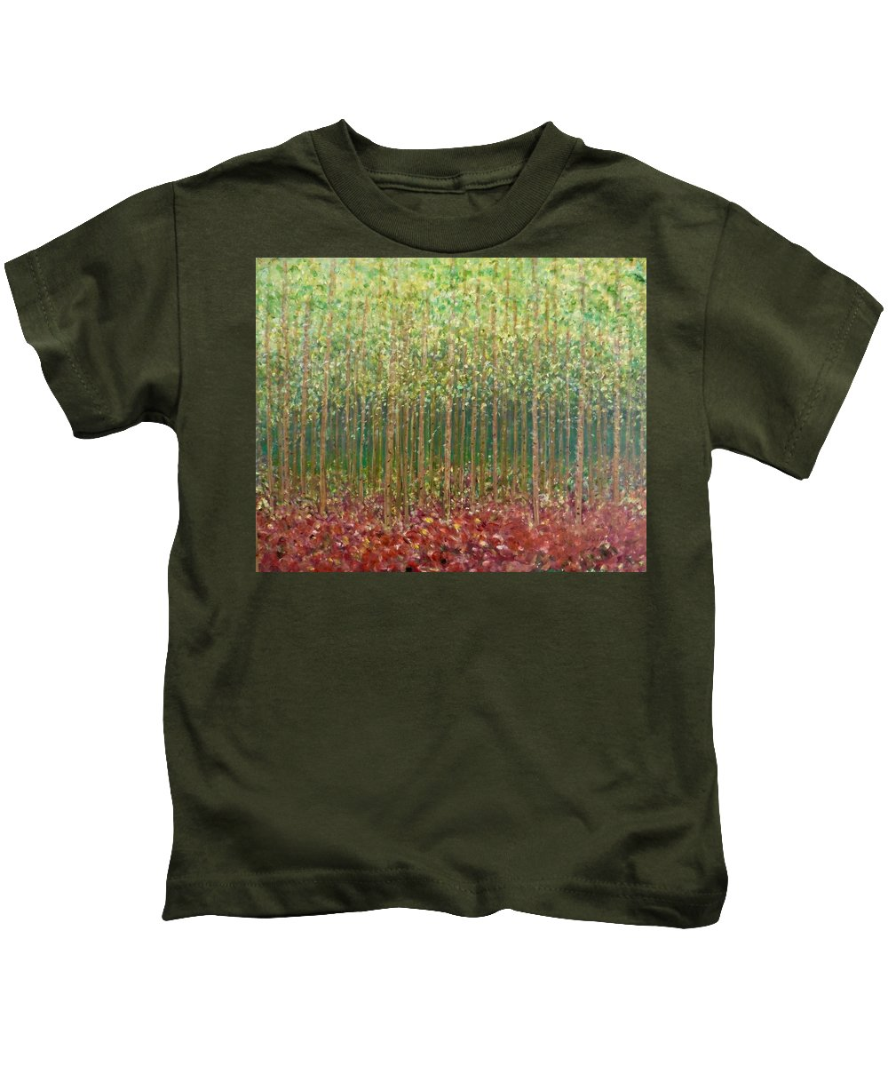 Inspirational Impressionistic Landscape Kids T-Shirt featuring the painting Passion Sweet by Sara Credito