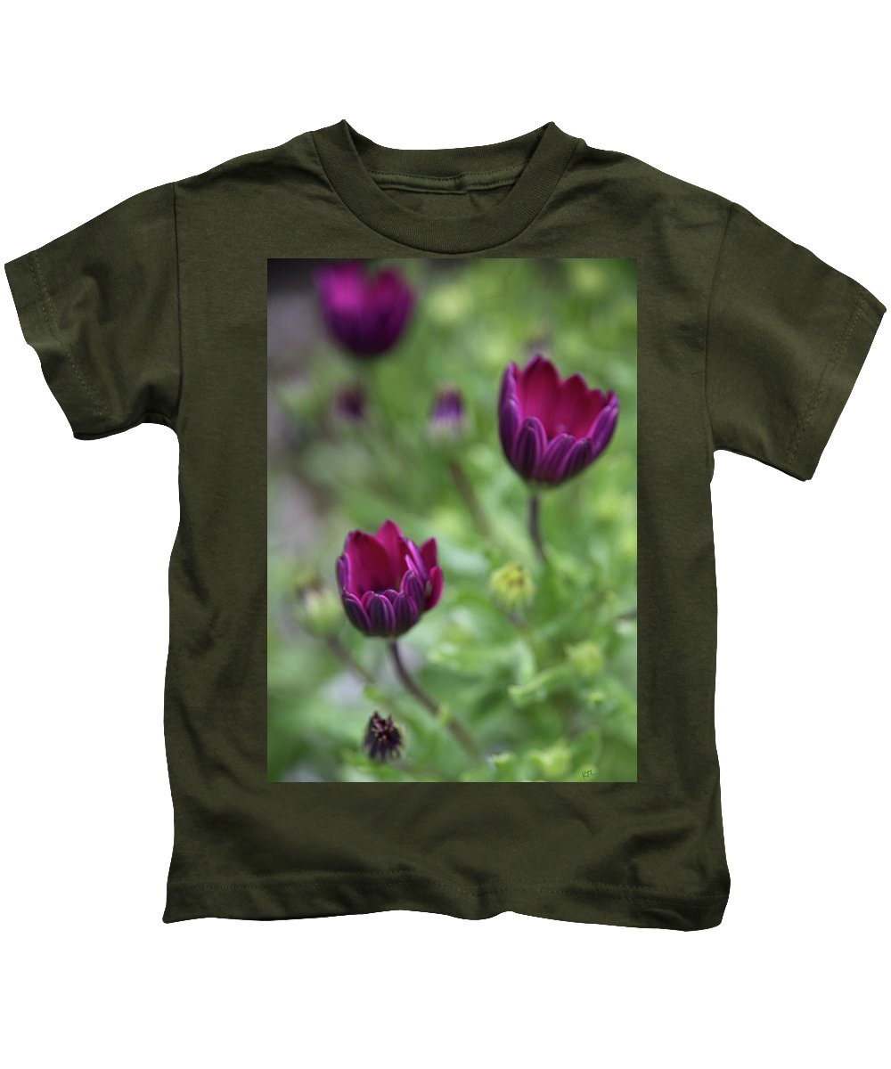 Flowers Kids T-Shirt featuring the photograph Passionate Purple by Karol Livote