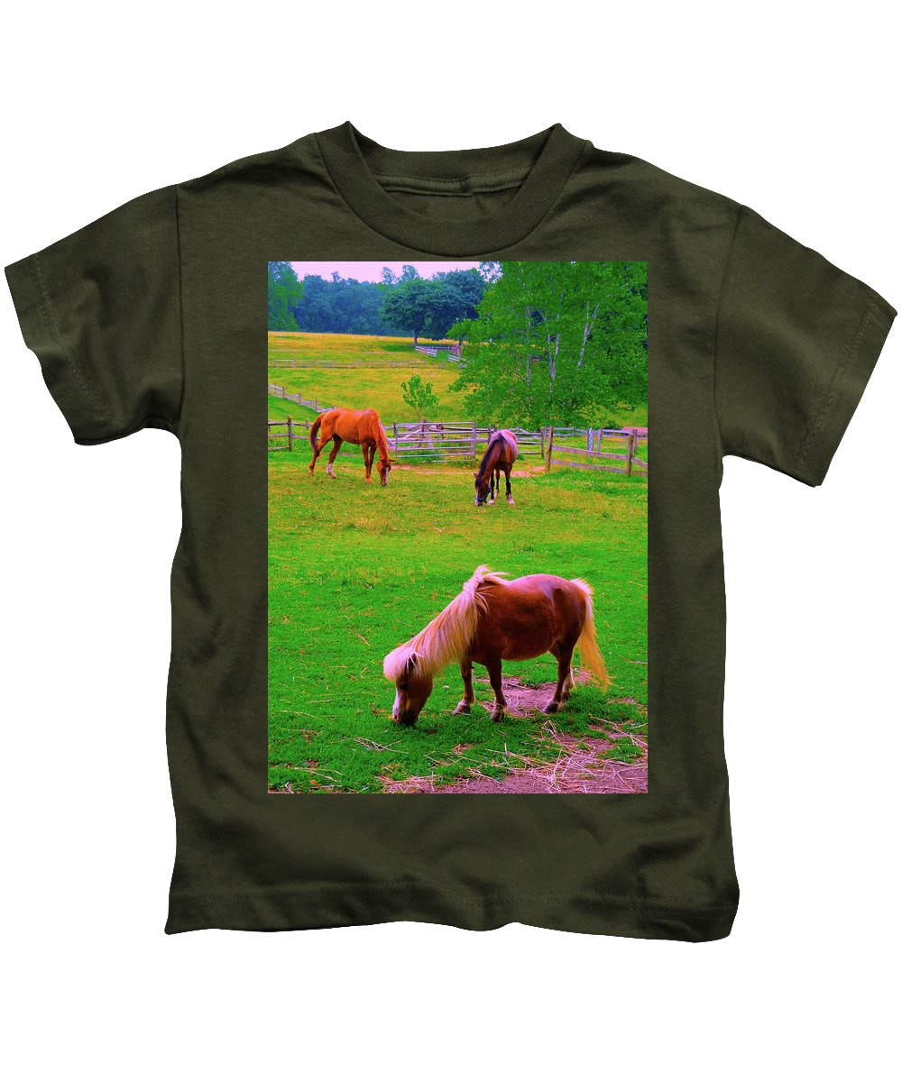 Farm Kids T-Shirt featuring the photograph Pastoral by Jane Alexander