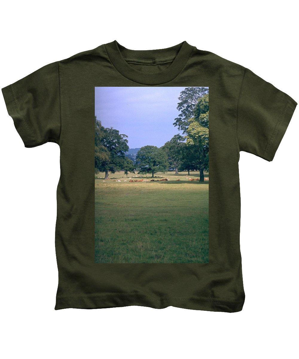 Great Britain Kids T-Shirt featuring the photograph Pasture by Flavia Westerwelle