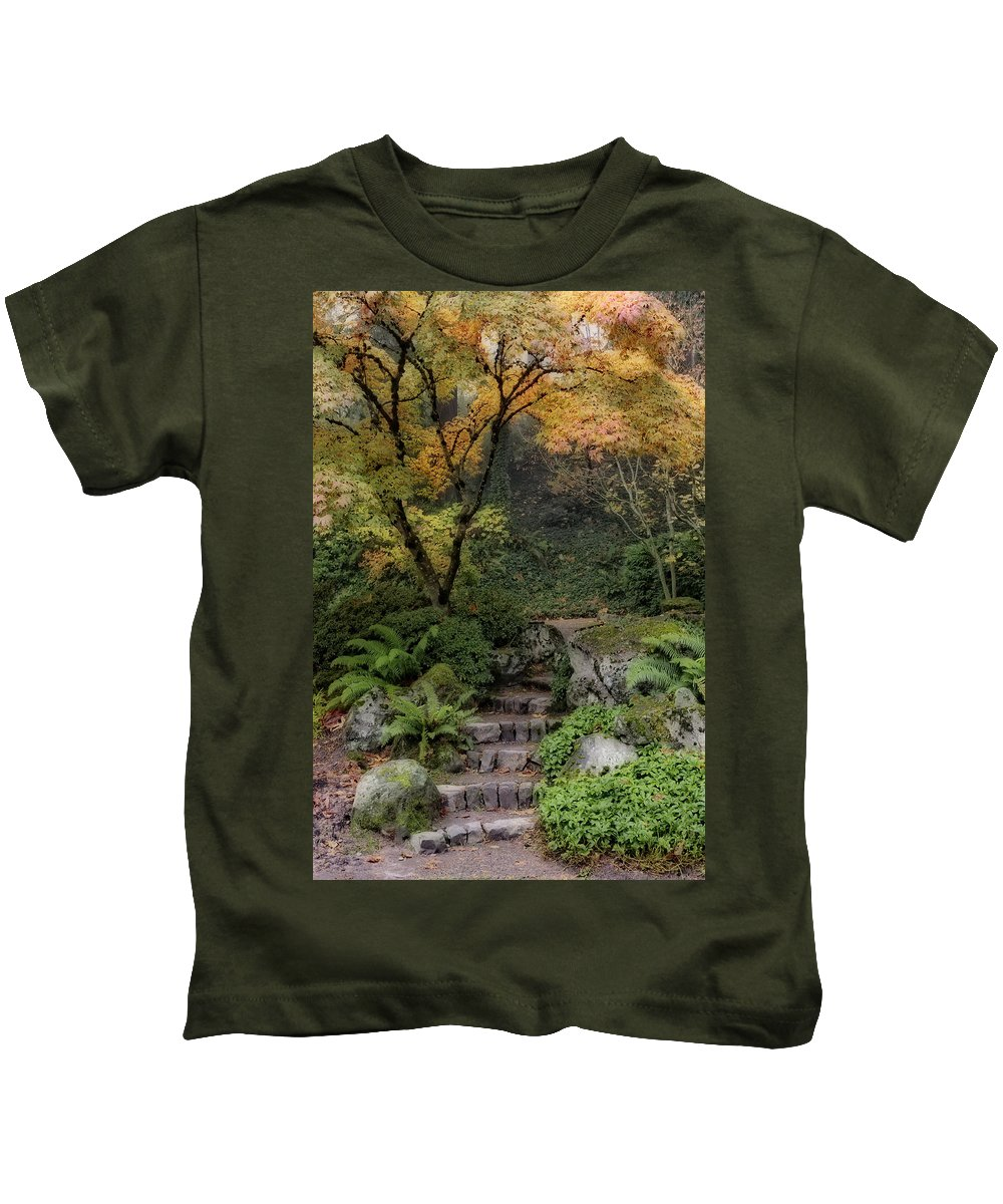 Pathway Into Fall Kids T-Shirt featuring the photograph Pathway Into Fall by Wes and Dotty Weber