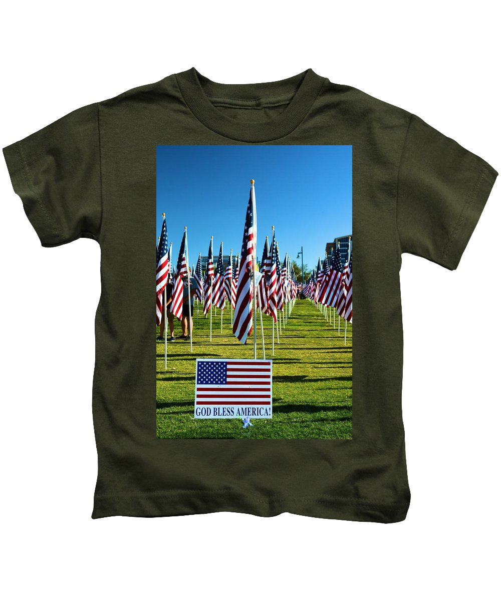 Patriotic Kids T-Shirt featuring the photograph Patriotic by Richard Jenkins