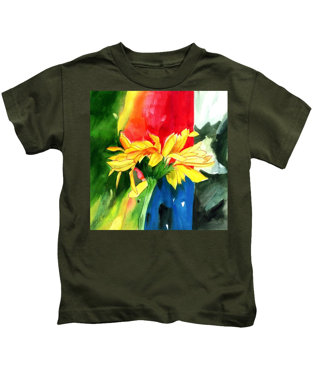 Peace Kids T-Shirt featuring the painting Peace Square by Anil Nene