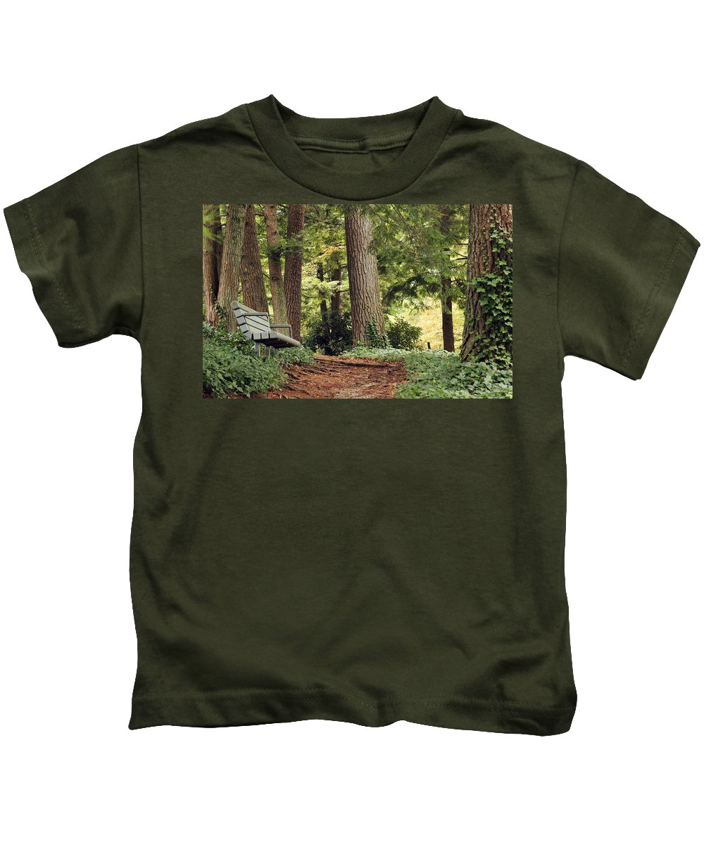 Bark Kids T-Shirt featuring the photograph Peaceful Path by Travis Rogers