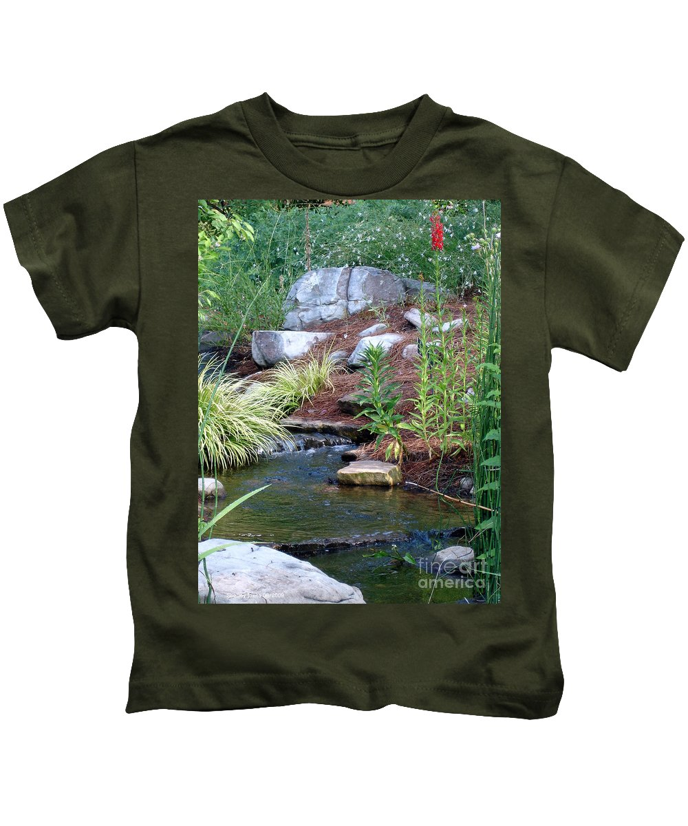 Landscape Kids T-Shirt featuring the photograph Peaceful by Shelley Jones
