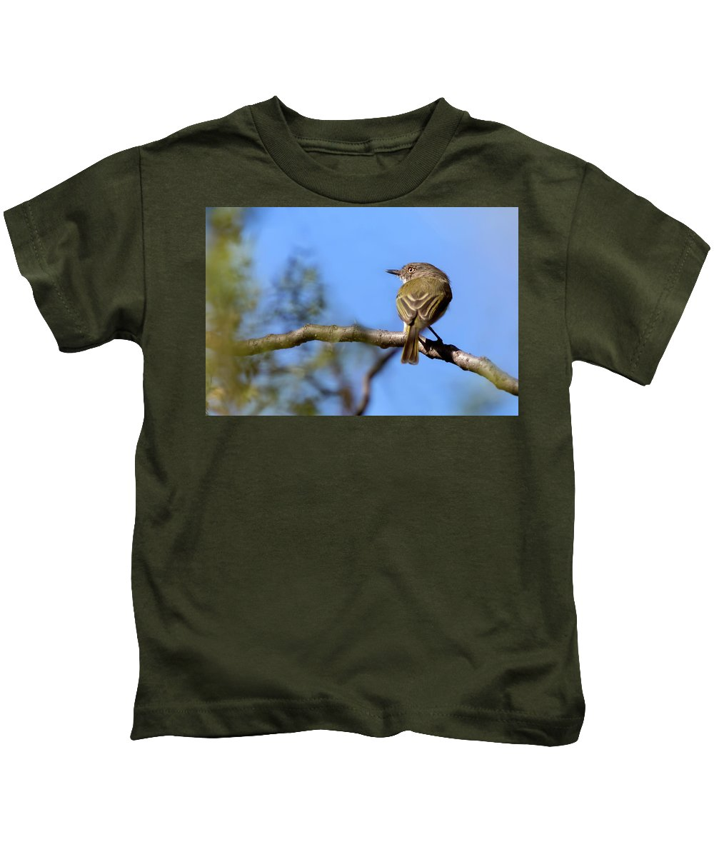 Bird Kids T-Shirt featuring the photograph Pearly-vented Tody-tyrant by Pablo Rodriguez Merkel
