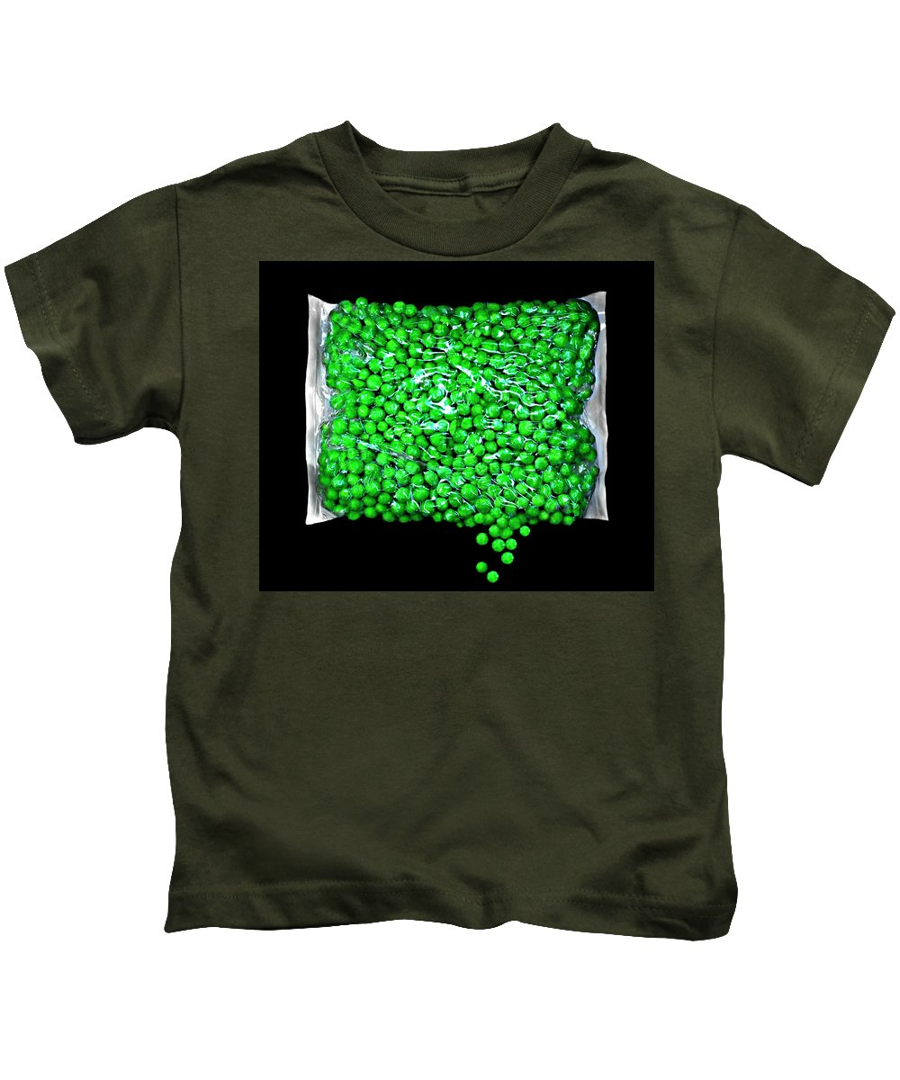 Food Photography Food Kids T-Shirt featuring the photograph Peas Please by Diana Angstadt