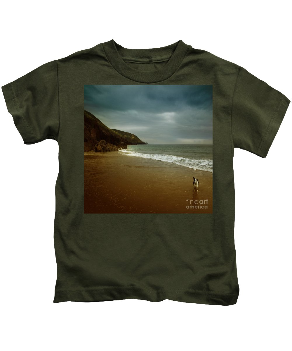 Beach Kids T-Shirt featuring the photograph Pembrokeshire by Angel Ciesniarska
