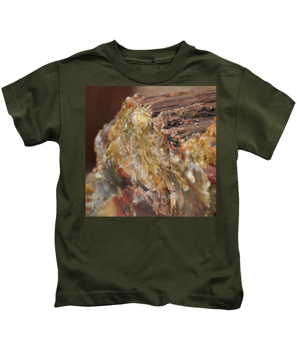 Abstracts Kids T-Shirt featuring the photograph Petrified Wood by Ernie Echols