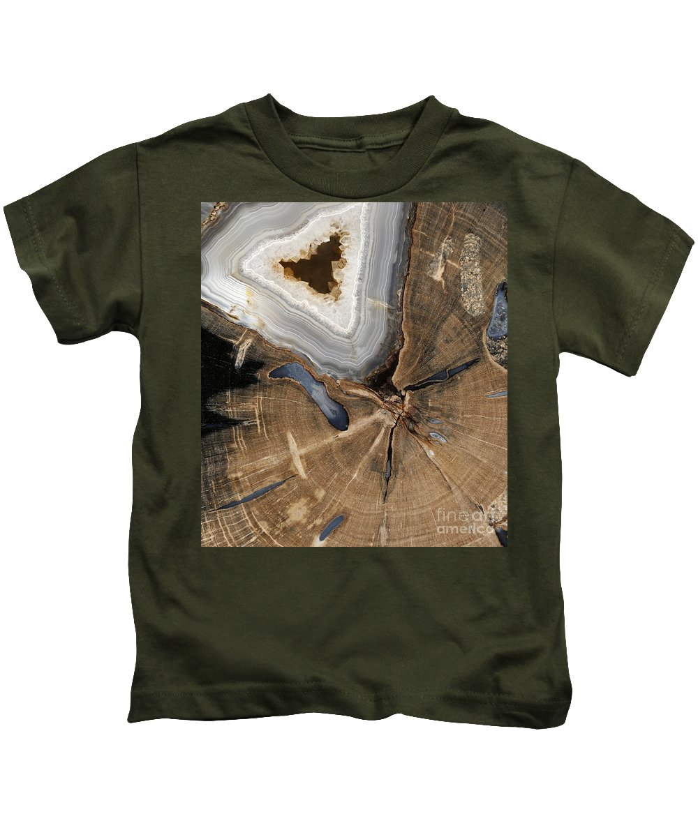 Ancient Kids T-Shirt featuring the photograph Petrified Wood by Ted Kinsman