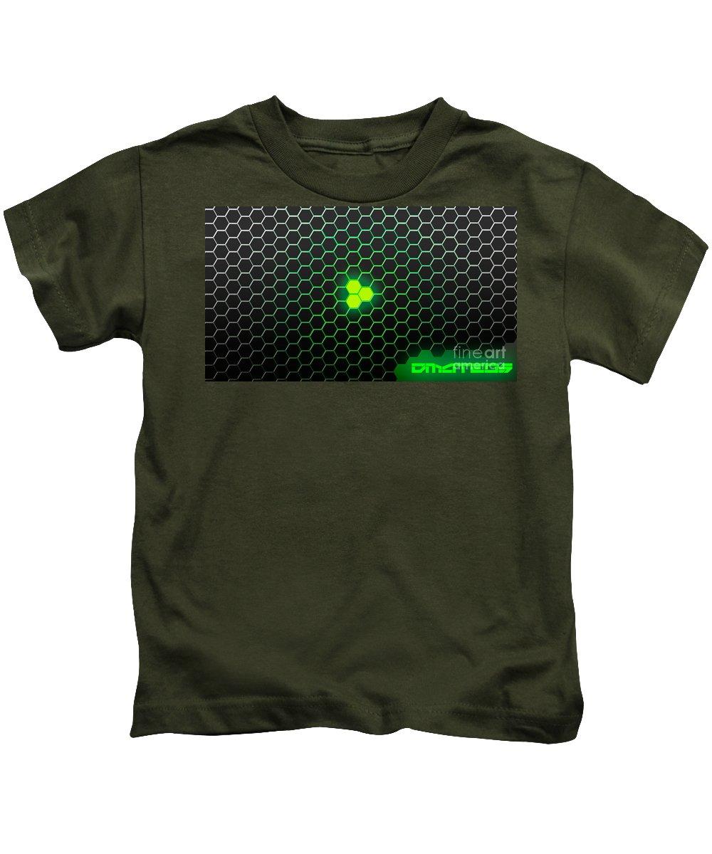 Wallpaper Kids T-Shirt featuring the digital art Phantom by D Mateos