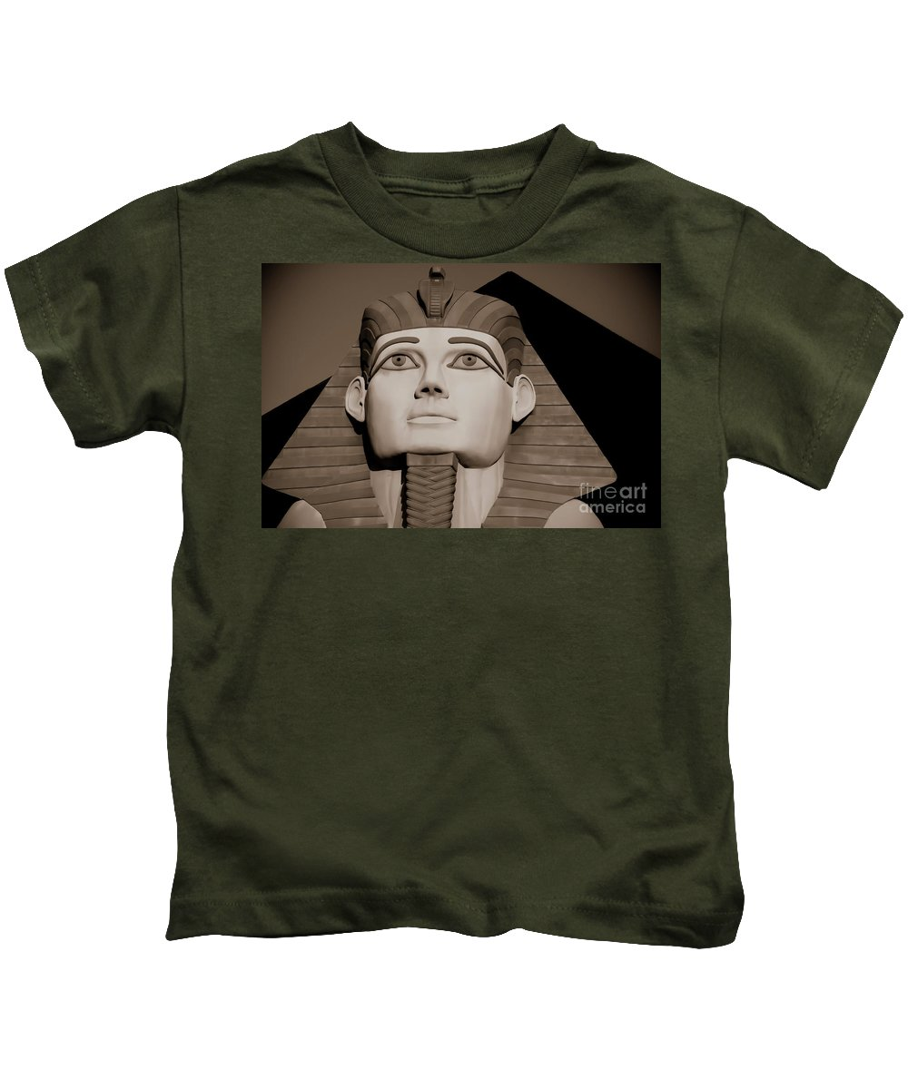Ancient Kids T-Shirt featuring the photograph Pharaohs And Pyramids by Charles Dobbs