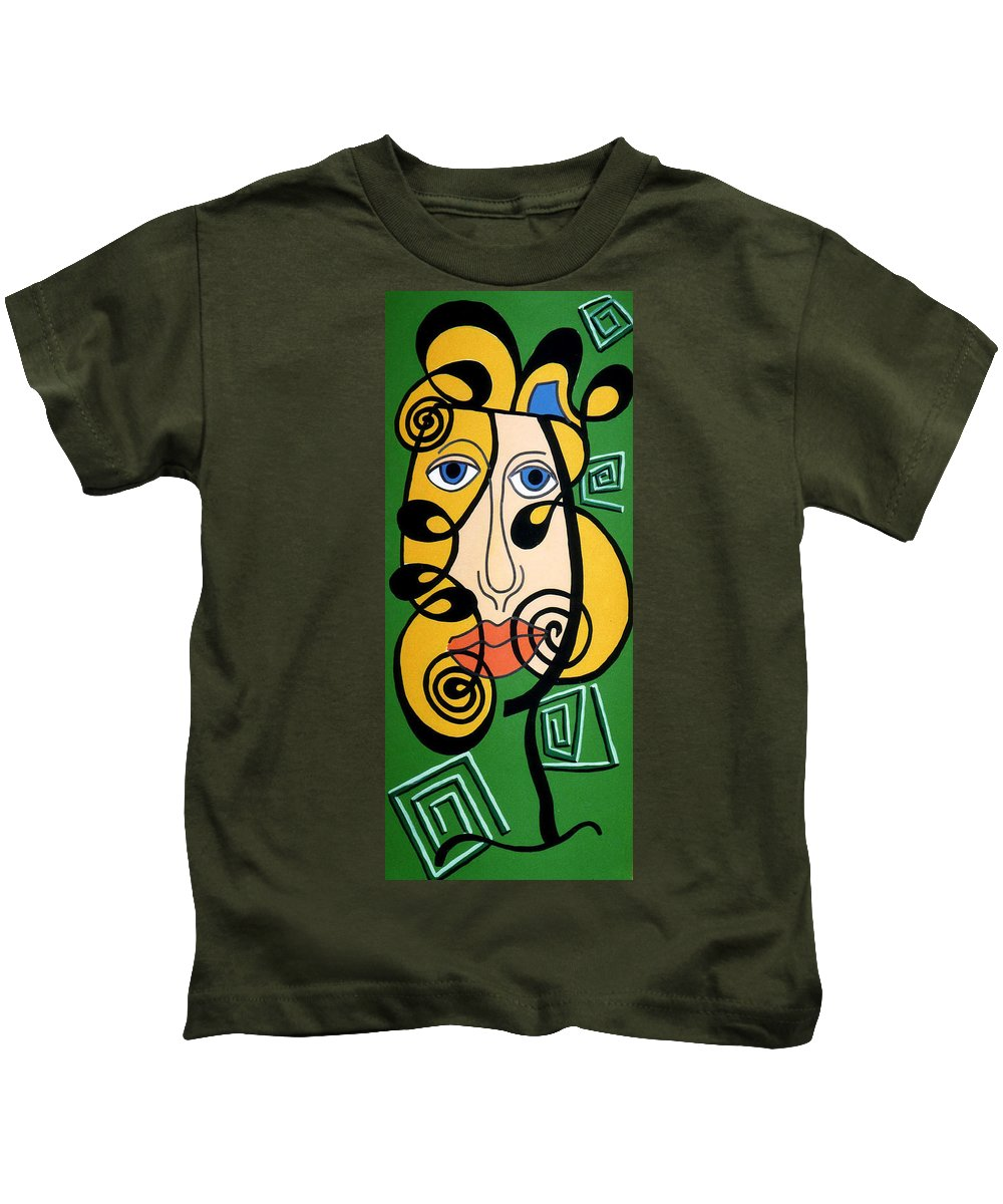 Kids T-Shirt featuring the painting Picasso Influence by Catt Kyriacou