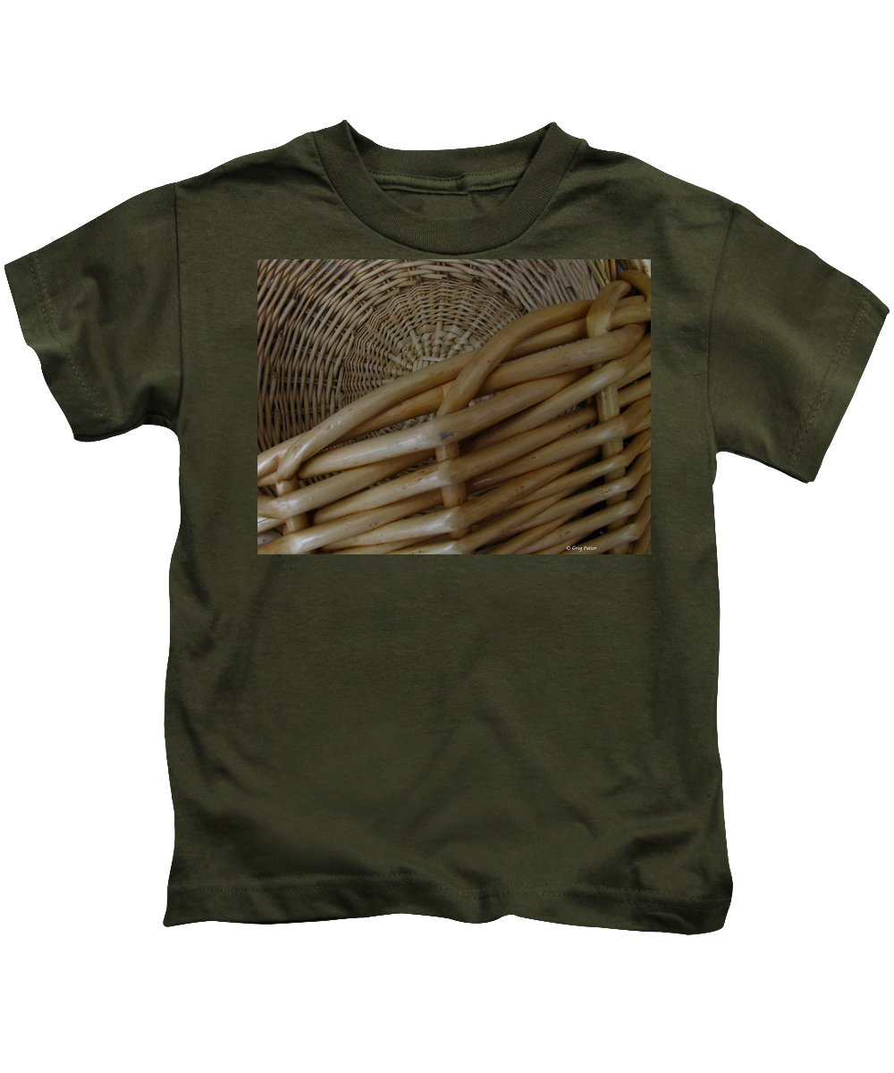 Art For The Wall...patzer Photography Kids T-Shirt featuring the photograph Picnic Basket by Greg Patzer