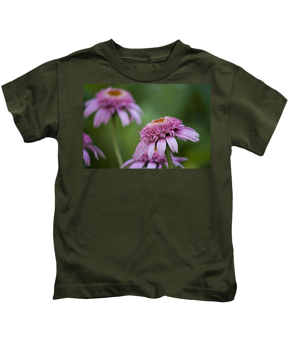 Pink Kids T-Shirt featuring the photograph Pink Double Delight by Teresa Mucha