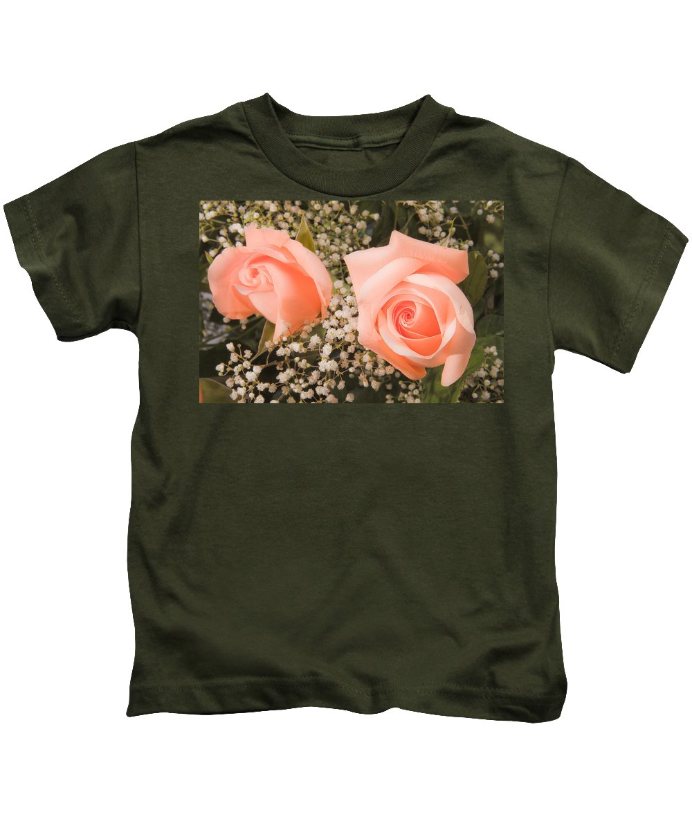 Roses Kids T-Shirt featuring the photograph Pink Roses Fine Art Photography Print by James BO Insogna