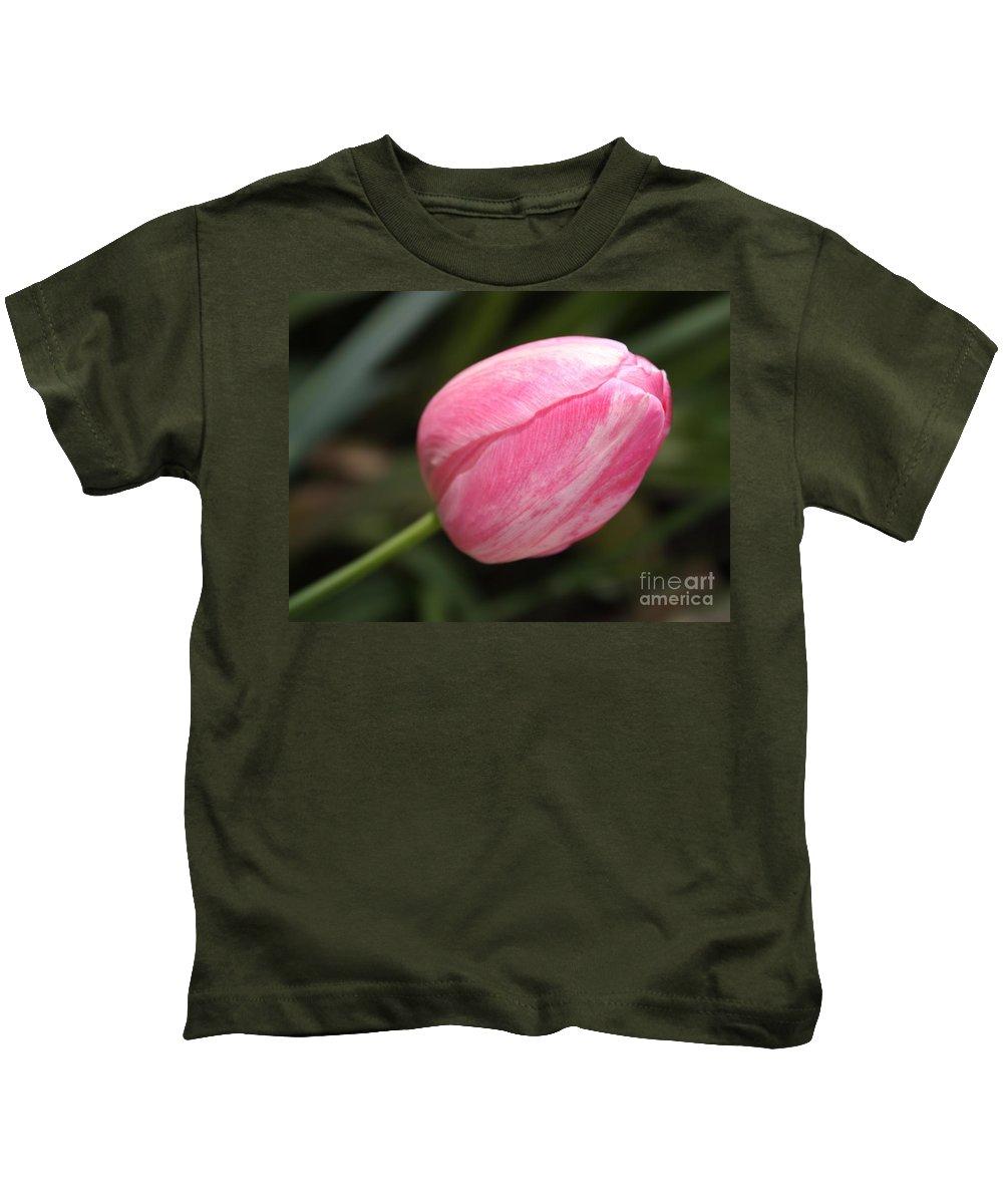 Tulip Kids T-Shirt featuring the photograph Pink Tulip Closeup by Carol Groenen