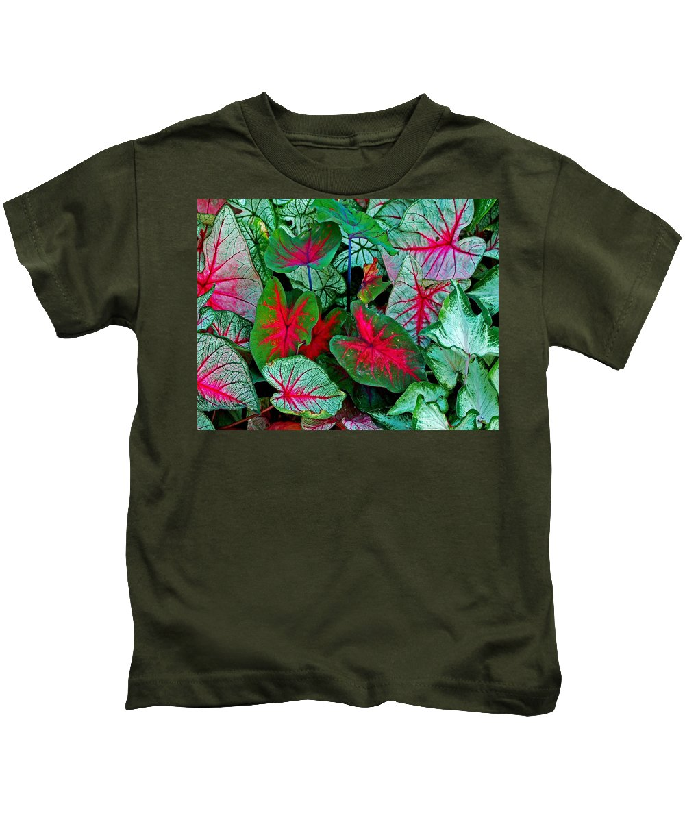 Flowers Kids T-Shirt featuring the painting Pink Veined by Michael Thomas