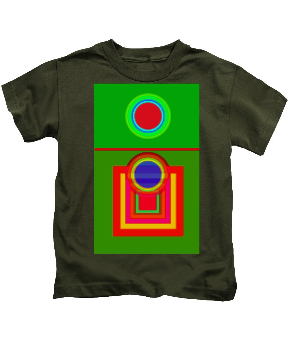 Classical Kids T-Shirt featuring the painting Pitch by Charles Stuart