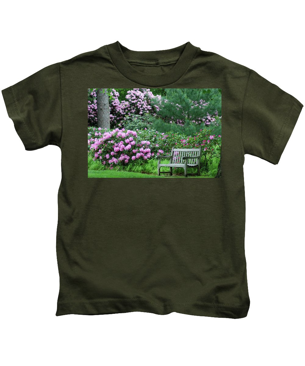 Longwood Gardens Kids T-Shirt featuring the photograph Place To Rest by Richard Bryce and Family