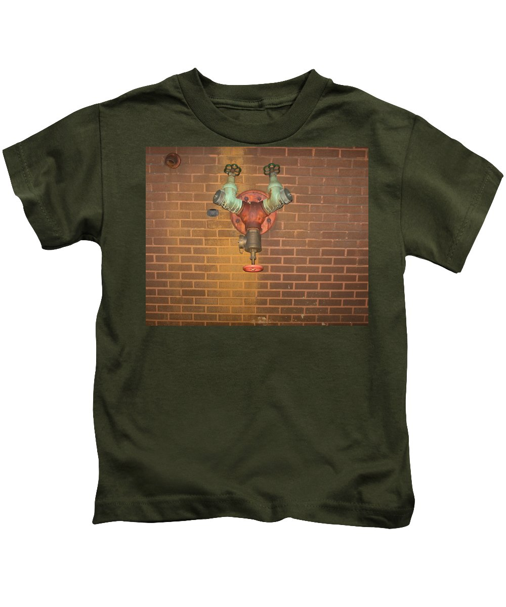 Photograph Kids T-Shirt featuring the photograph Plain All Alone Pipe by Thomas Valentine