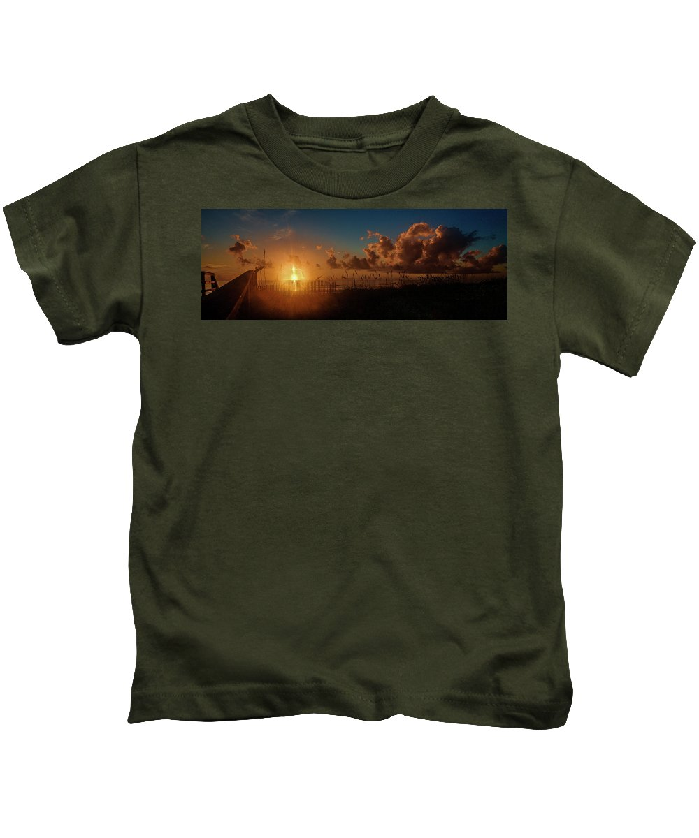 Sunrise Kids T-Shirt featuring the photograph Playalinda Sunrise by Charlie Grindrod