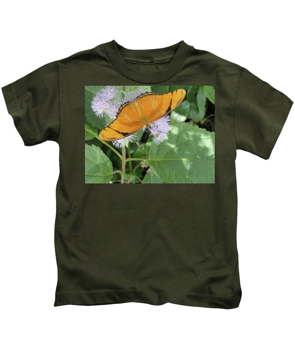 Butterfly Kids T-Shirt featuring the photograph Poised by Trish Hale