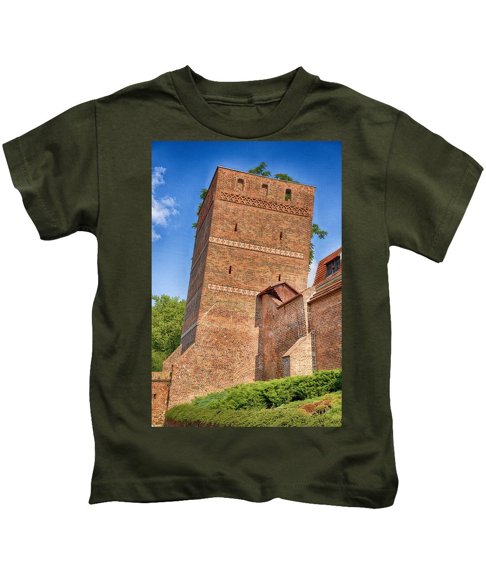 Poland Kids T-Shirt featuring the photograph Poland, Torun, Crooked Tower. by Adriano Bussi