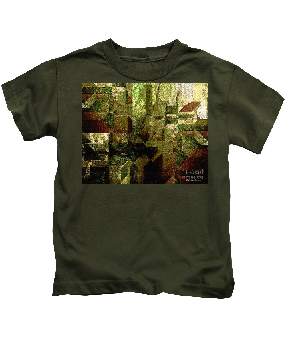Abstract Kids T-Shirt featuring the painting Pollution by RC DeWinter