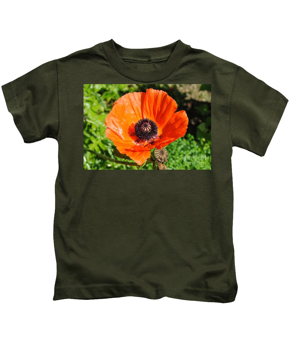 Poppy Kids T-Shirt featuring the photograph Poppy by Jost Houk