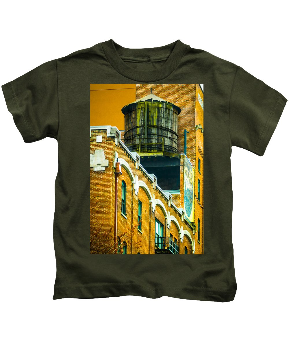 Rooftop Kids T-Shirt featuring the photograph Portland Water Tower II by Albert Seger