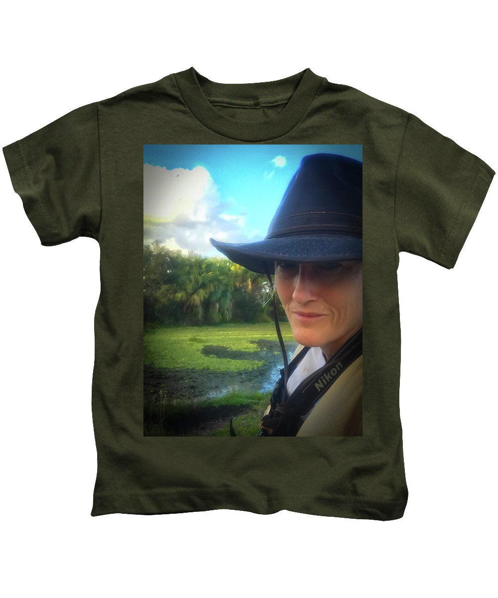 Conservationist Kids T-Shirt featuring the photograph Portrait Of A Conservationist by Elie Wolf
