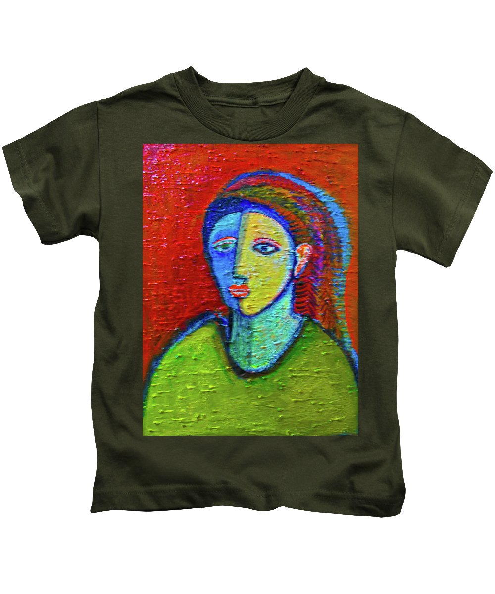 Kids T-Shirt featuring the painting Portrait by Robert Gravelin