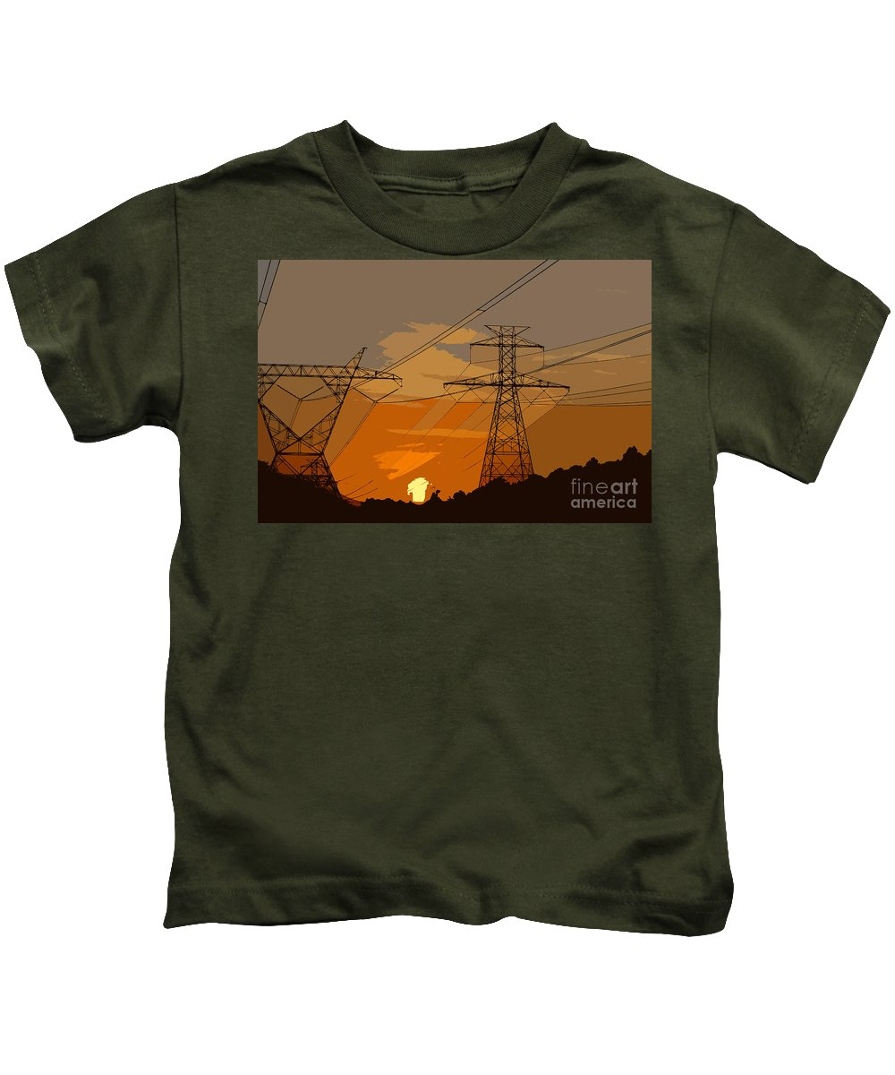 Power Kids T-Shirt featuring the painting Power To The People by David Lee Thompson