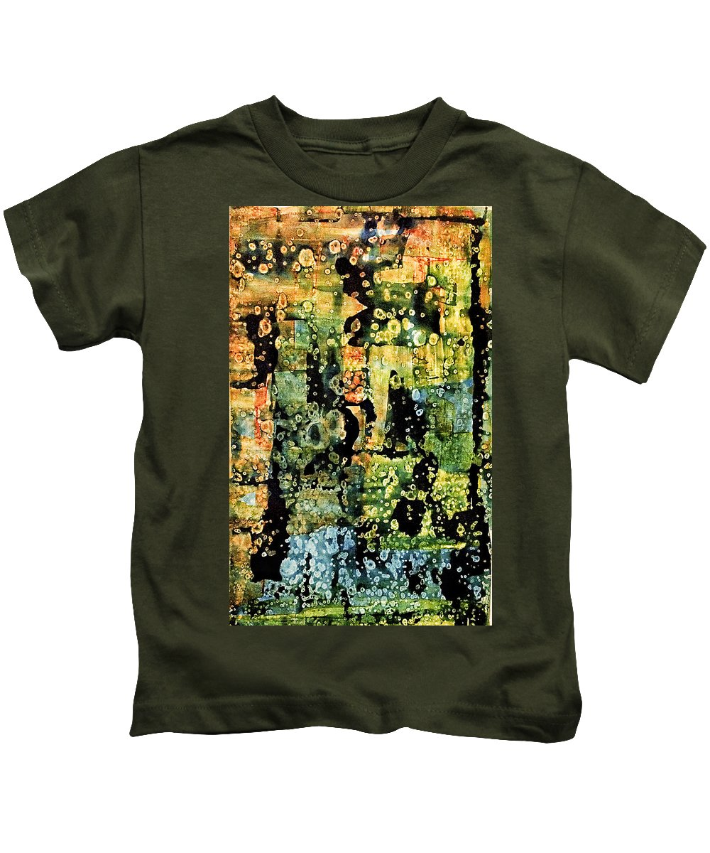 Abstract Kids T-Shirt featuring the mixed media Precipitation Of Time by Dan Sisken