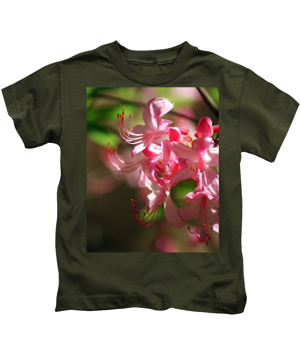 Flowers Kids T-Shirt featuring the photograph Pretty Pink by Marty Koch