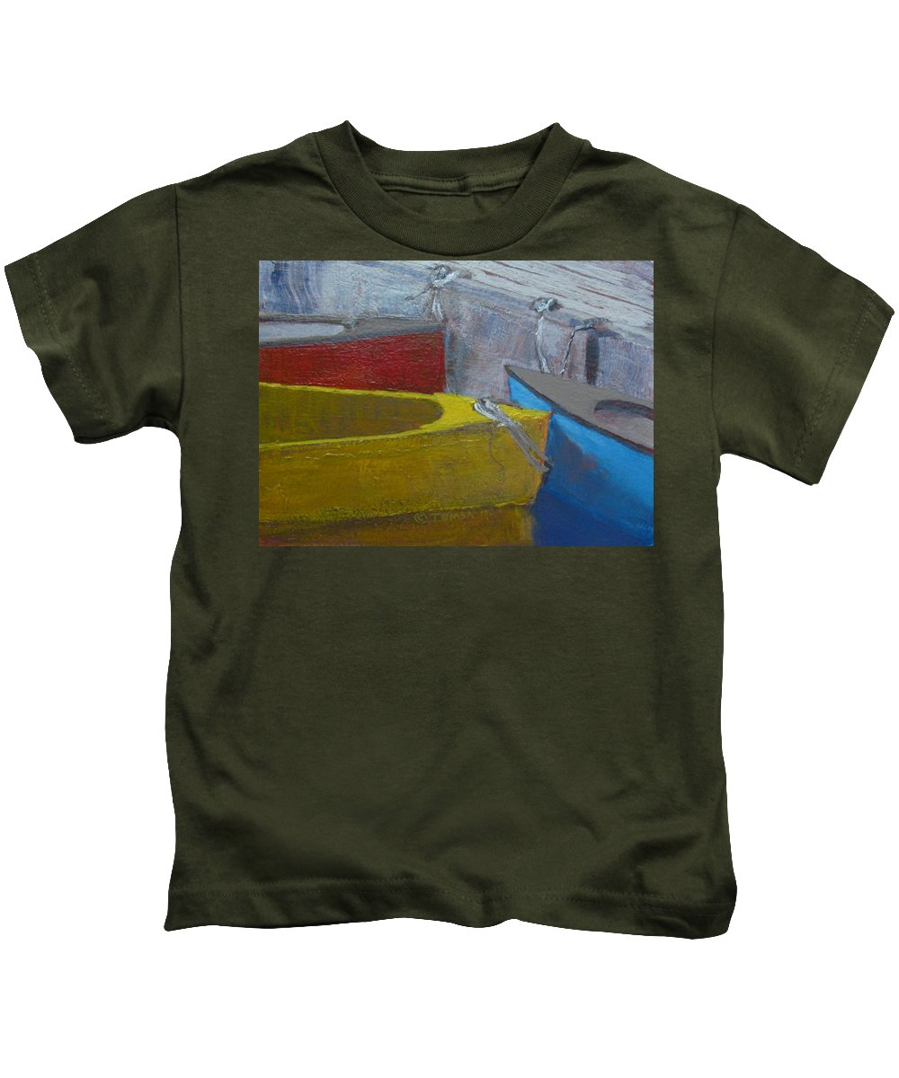 Arts Kids T-Shirt featuring the painting Primaries by Bill Tomsa