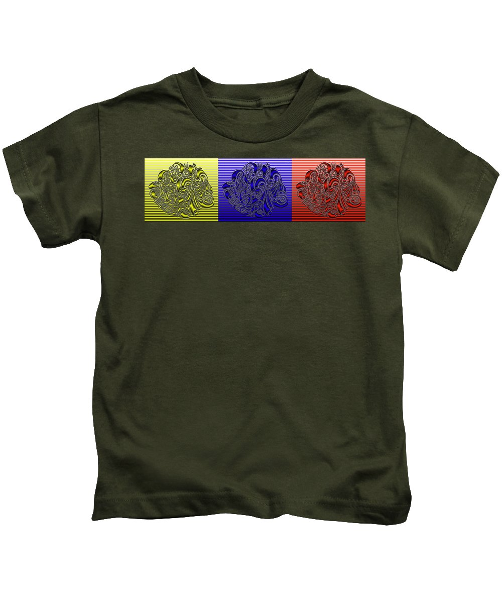 Abstract Kids T-Shirt featuring the digital art Primary Colors by Mark Sellers