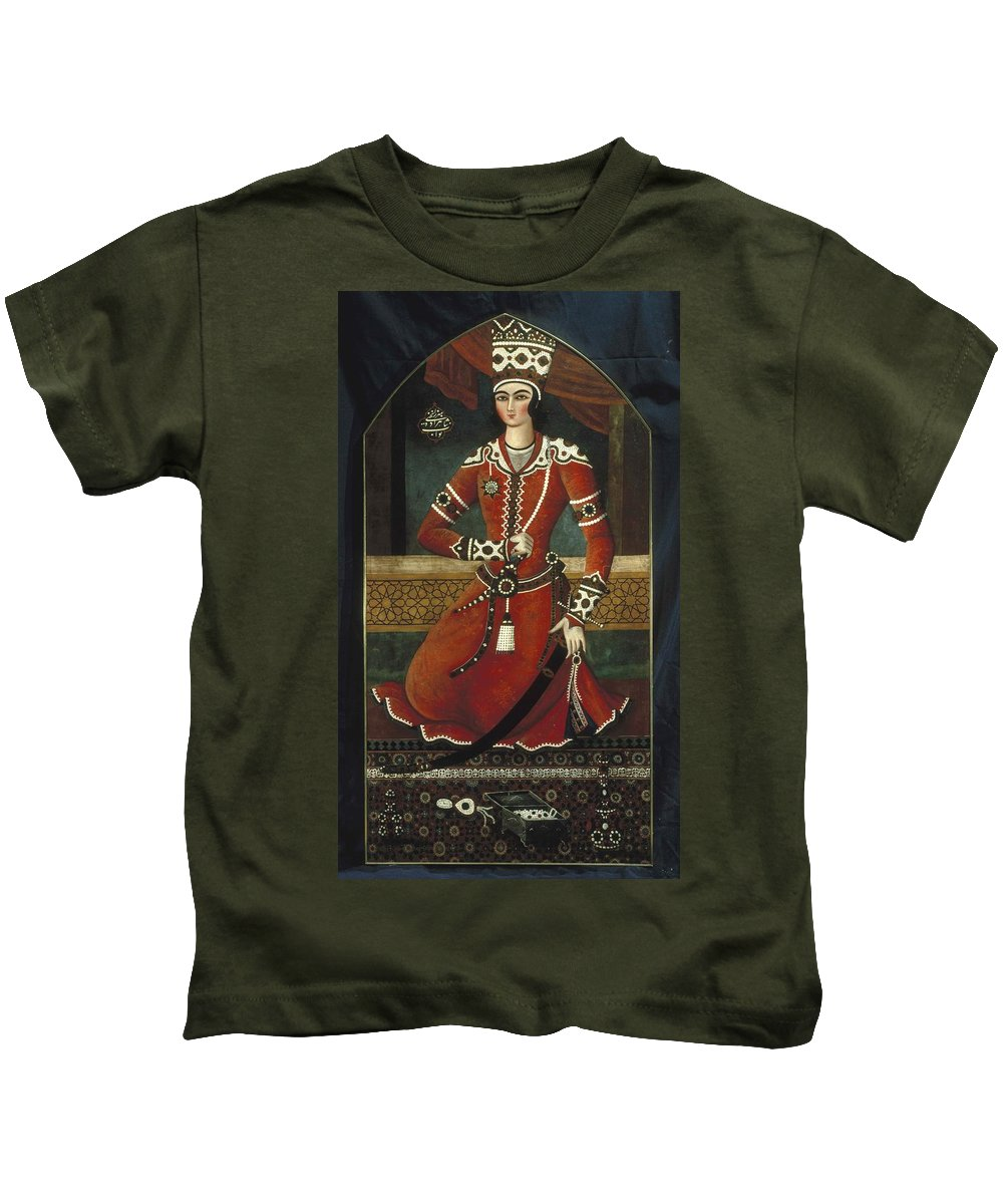 Prince Yahya Kids T-Shirt featuring the painting Prince Yahya by MotionAge Designs