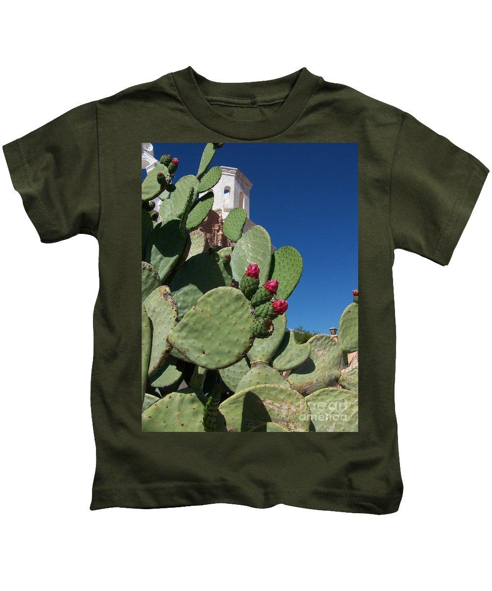 Cactus Kids T-Shirt featuring the photograph Promesas Cumplidas by Kathy McClure