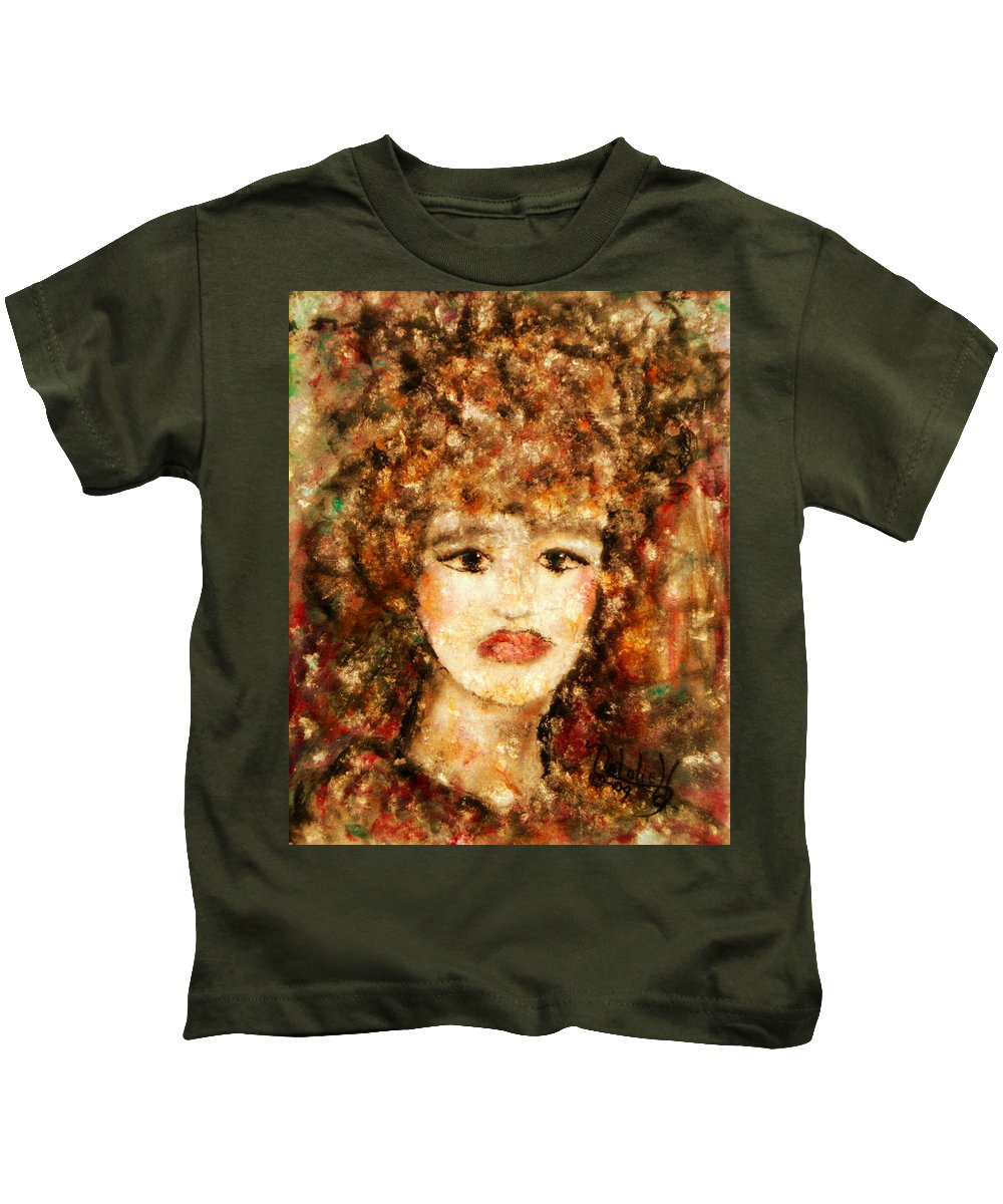 Female Kids T-Shirt featuring the painting Proud Sarah by Natalie Holland