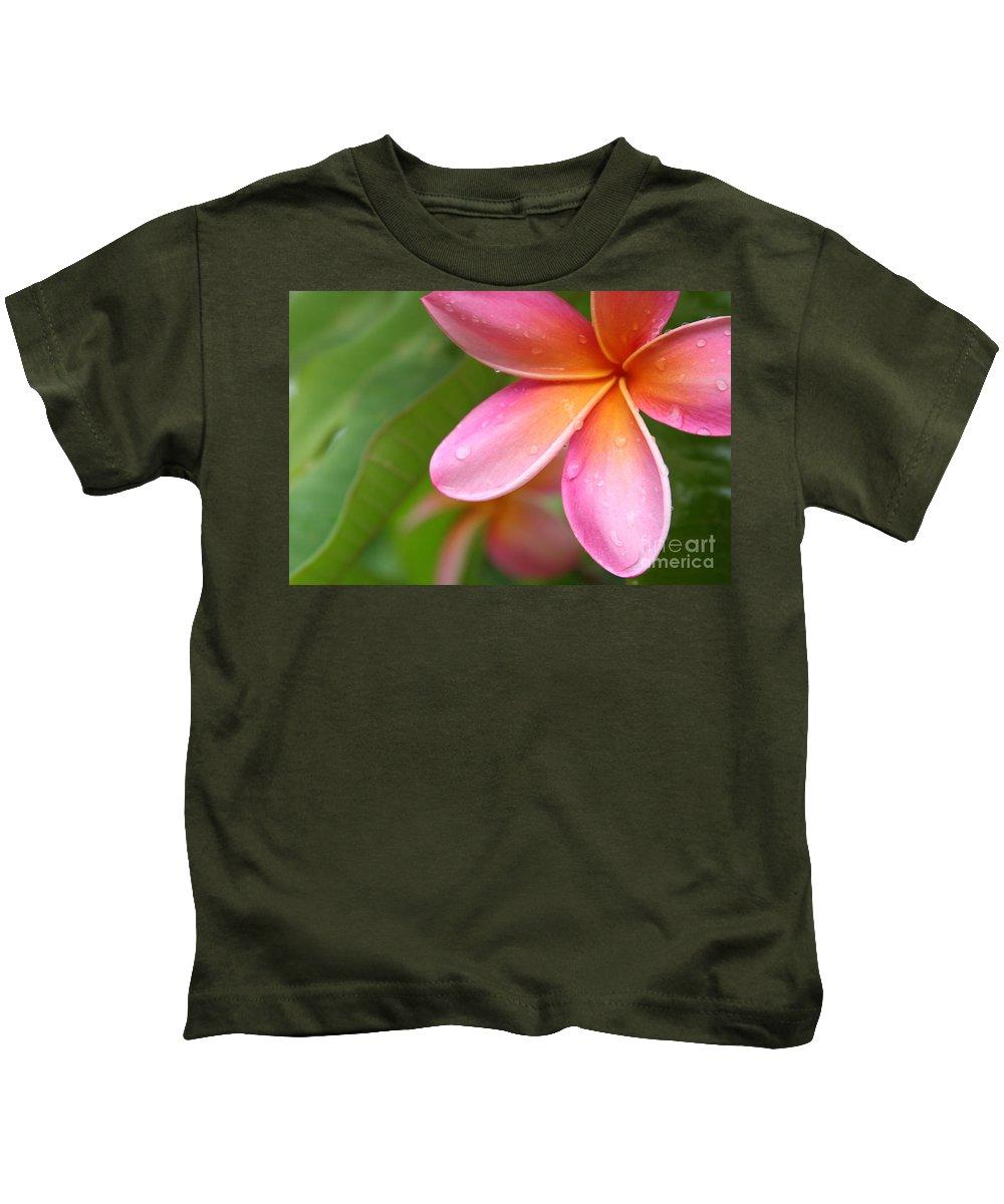 Aloha Kids T-Shirt featuring the photograph Pua Melia Earth Heart by Sharon Mau