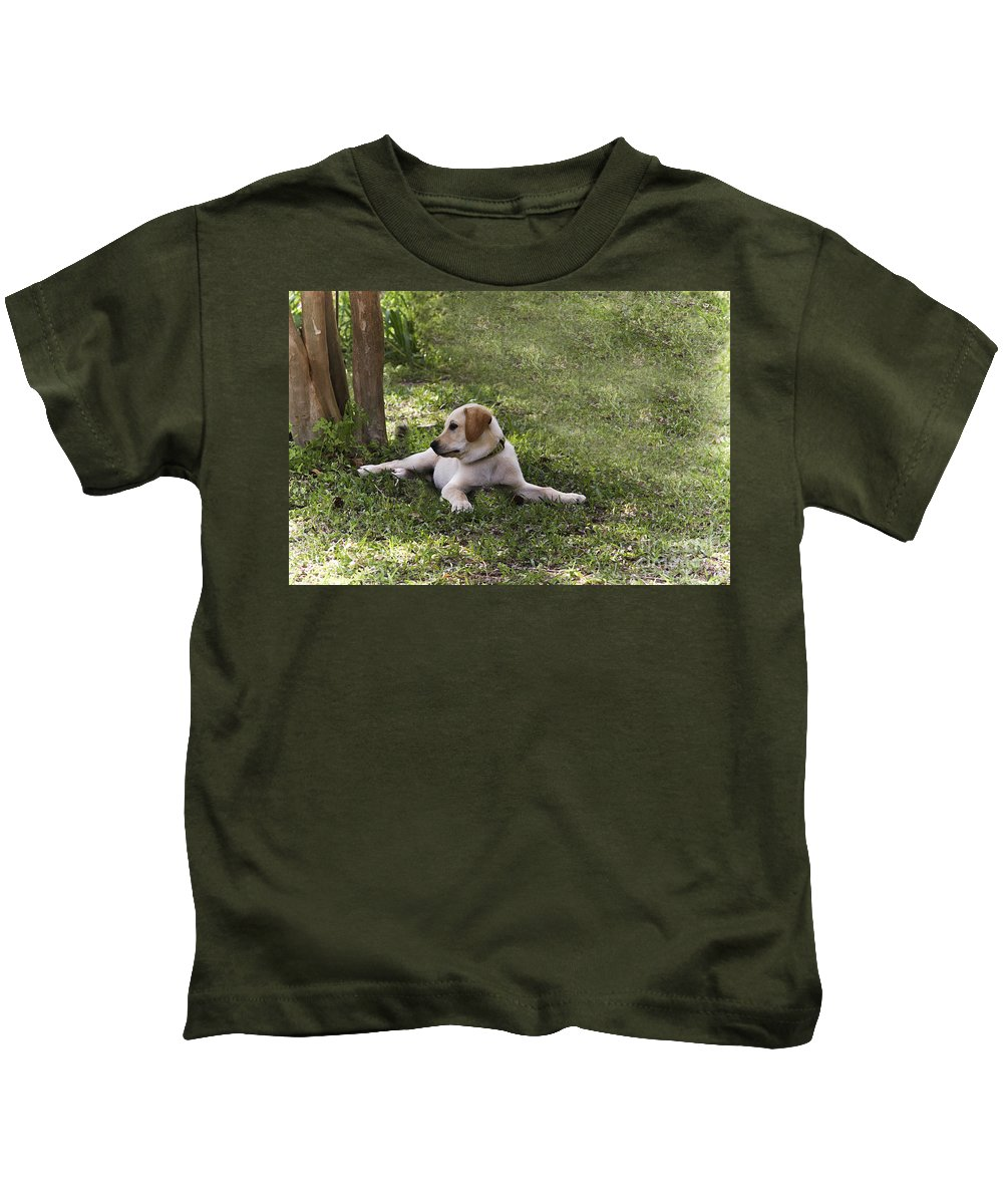 Puppy Kids T-Shirt featuring the photograph Puppy Love by Kim Henderson
