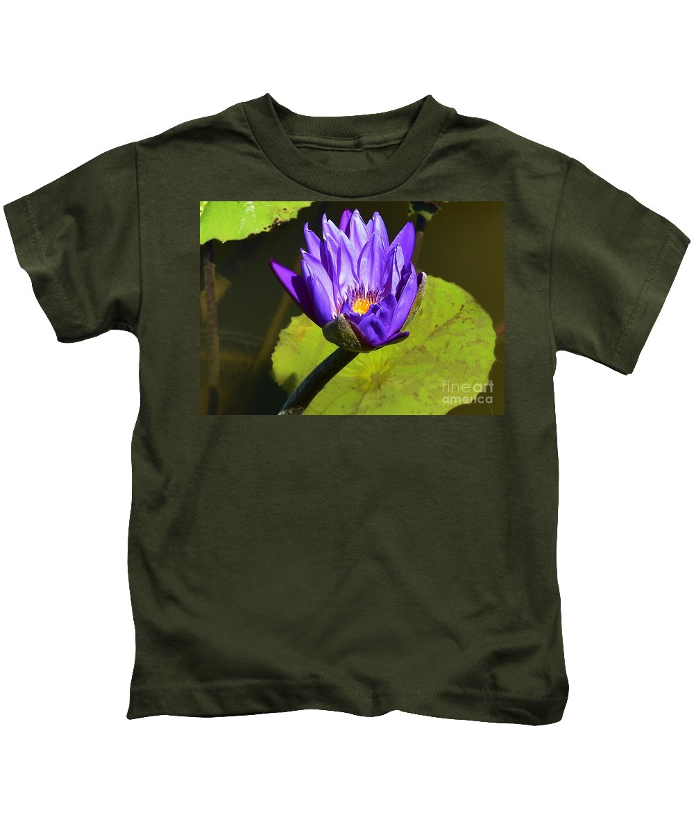 Lily Kids T-Shirt featuring the photograph Purple Biltmore Lily by Lisa Kleiner