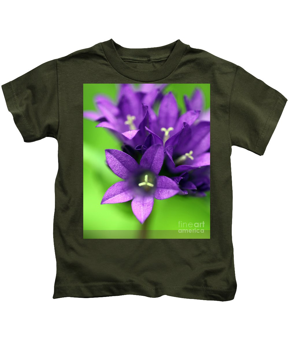 Floral Kids T-Shirt featuring the photograph Purple Blooms by Amanda Barcon