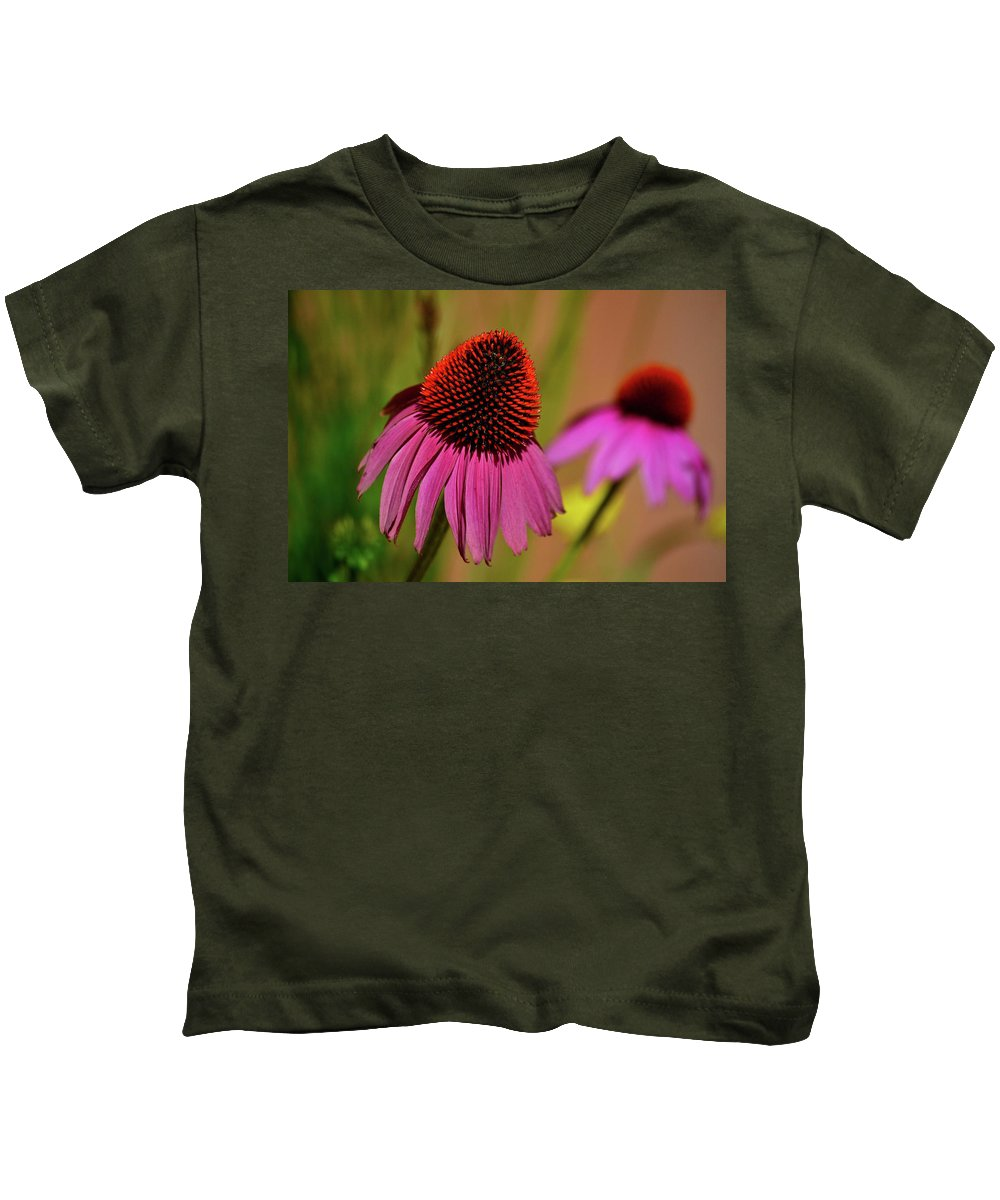 Background Kids T-Shirt featuring the photograph Purple Coneflower by Krista Russell