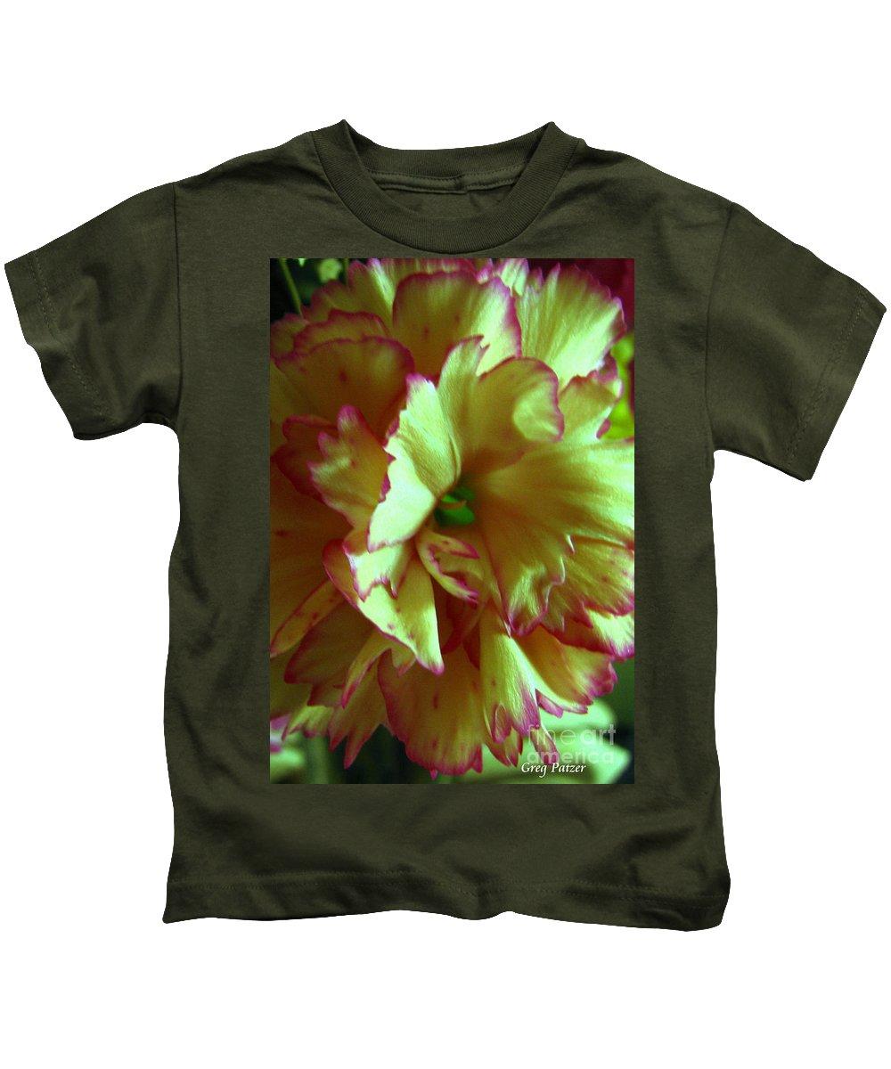 Patzer Kids T-Shirt featuring the photograph Purple Edges by Greg Patzer